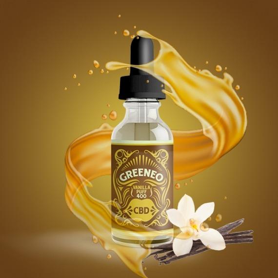 CBD Greeneo - Vanilla Puff 200 mg | Mysteria E-cigarete